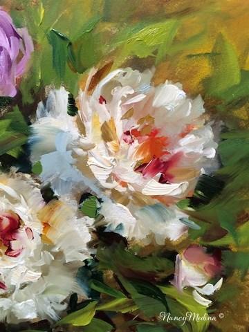 """A New Peony Video and Peonies in Bloom - Flower Paintings by Nancy Medina"" original fine art by Nancy Medina"