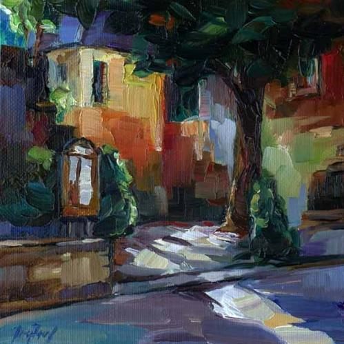 """Cosy corner"" original fine art by Jurij Frey"