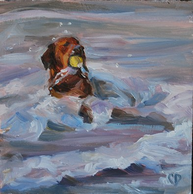"""Catch A Wave"" original fine art by Carol DeMumbrum"