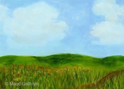"""""""Summer Meadow painted on first day of Summer"""" original fine art by Maud Guilfoyle"""