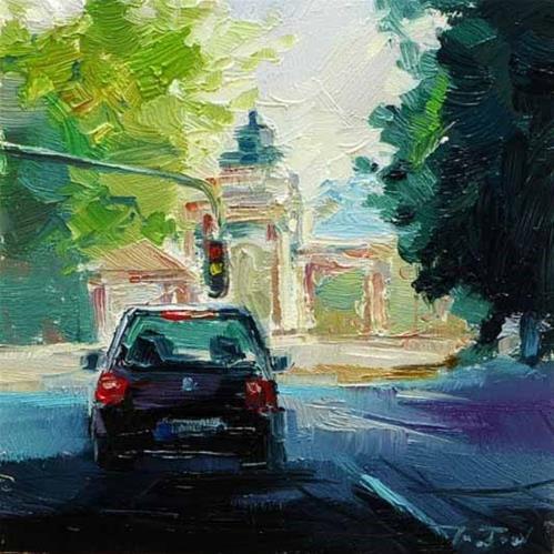 """""""Rosensteingarten"""" original fine art by Jurij Frey"""