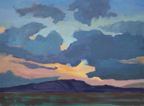 """Arizona Sunset, Contemporary Landscape Paintings by Arizona Artist Amy Whitehouse"" original fine art by Amy Whitehouse"