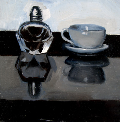 """Saltshaker and Miniature Teacup"" original fine art by Michael William"