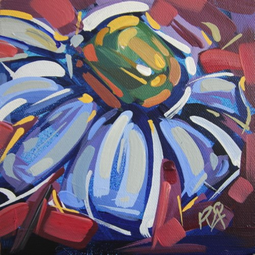 """Flower Abstraction 200"" original fine art by Roger Akesson"