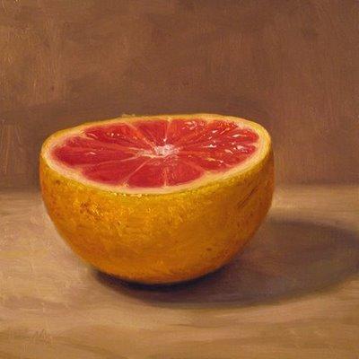 """Grapefruit Half"" original fine art by Abbey Ryan"