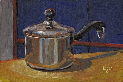 """Sauce Pan"" original fine art by Raymond Logan"