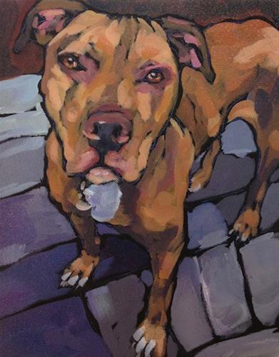 """Sweet Face Dog"" original fine art by Kat Corrigan"