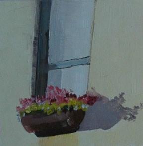 """SUNNY WINDOW"" original fine art by Linda Popple"