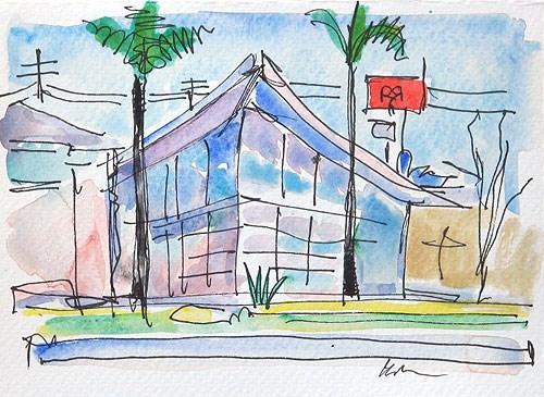 """Hillcrest Cityscape Watercolor"" original fine art by Kevin Inman"