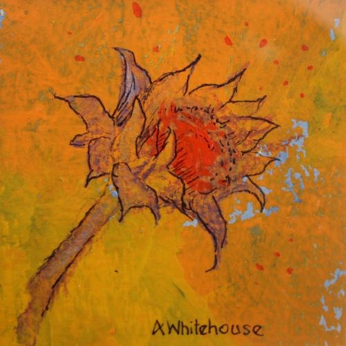 """""""Van Gogh Sunflower, Contemporary Still Life Paintings by Arizona Artist Amy Whitehouse"""" original fine art by Amy Whitehouse"""