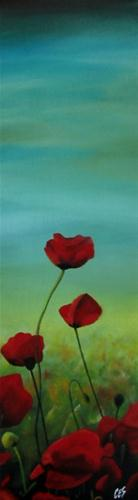 """Poppy Field"" original fine art by ~ces~ Christine E. S. Code"