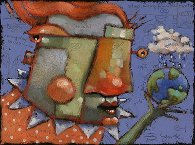 """Earth Mama"" original fine art by Brenda York"