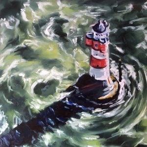 """Rough Sea"" original fine art by Sonja Neumann"