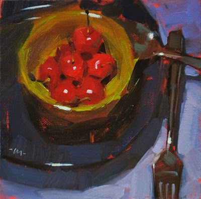 """Cherry Heaven"" original fine art by Carol Marine"