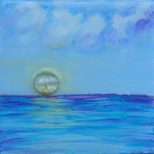 """""""Blue"""" original fine art by Gloria Urban"""