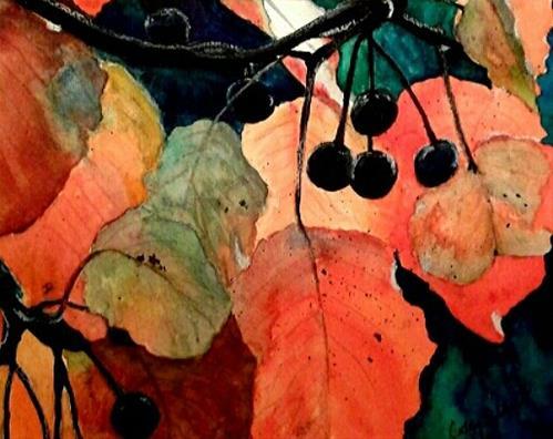"""""""Fall Brights"""" original fine art by Cathy Dykstra"""