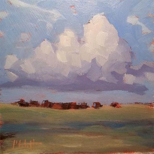 """Cows and Clouds Contemporary Impressionism Original Oil Painting"" original fine art by Heidi Malott"