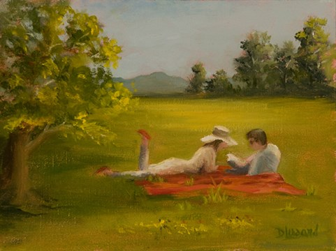 """Romantic Picnic #1315"" original fine art by Dee Lessard"