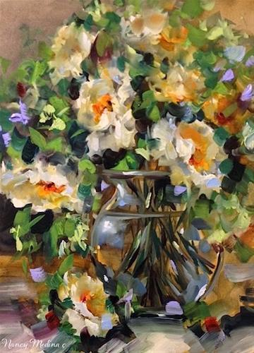 """""""Rose Journey 2.0 by Floral Artist Nancy Medina"""" original fine art by Nancy Medina"""