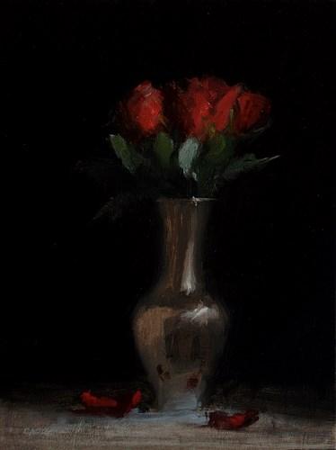 """""""Roses in Brass"""" original fine art by Neil Carroll"""