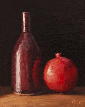 """Still Life with Pomegranate"" original fine art by Abbey Ryan"
