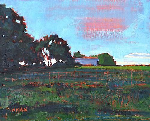 """Oklahoma Farm"" original fine art by Kevin Inman"