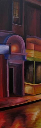 """""""Rainy Street in Paris"""" original fine art by ~ces~ Christine E. S. Code"""