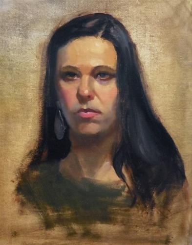 """""""Last night's model"""" original fine art by Kathy Weber"""
