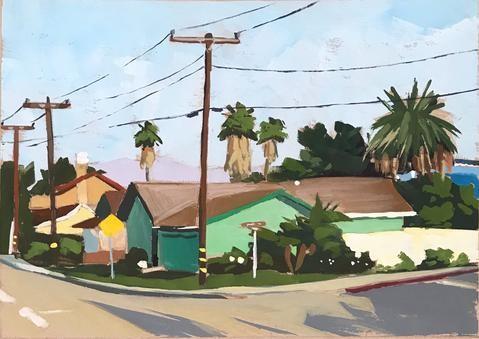 """Green House Carpinteria"" original fine art by Sharon Schock"