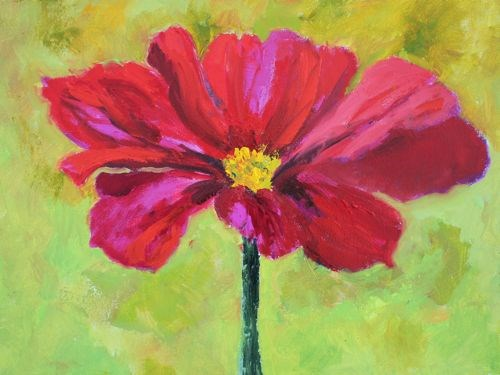"""Cosmos, Contemporary Floral Paintings by Arizona Artist Amy Whitehouse"" original fine art by Amy Whitehouse"
