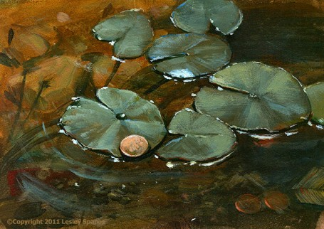 """""""For Luck"""" original fine art by Lesley Spanos"""