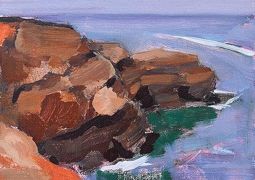 """""""Sunset Cliffs, San Diego"""" original fine art by Kevin Inman"""
