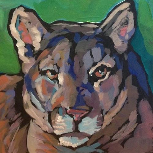"""""""Puma"""" original fine art by Kat Corrigan"""