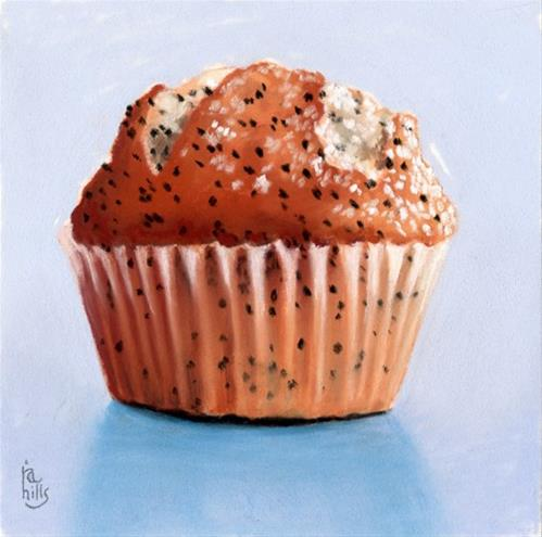 """Lemon Poppy Seed Muffin"" original fine art by Ria Hills"