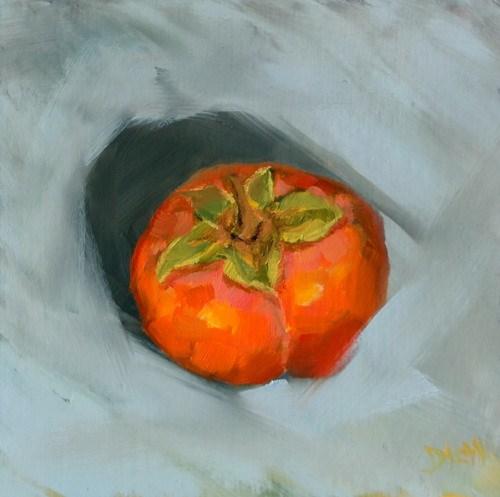 """Persimmon Fruit"" original fine art by Dalan Wells"