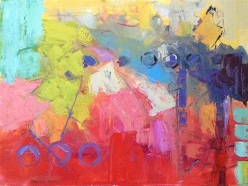"""Abstract"" original fine art by Carol Josefiak"