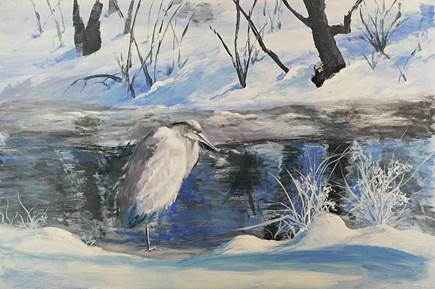 """The Big Chill"" original fine art by Jamie Williams Grossman"