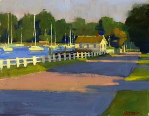"""""""Evening by the river"""" original fine art by Kathy Weber"""