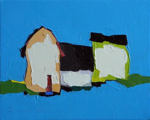 """Electric Blue"" original fine art by Donna Walker"