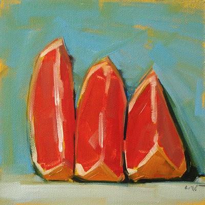 """Progress of a Slouch --- SOLD"" original fine art by Carol Marine"