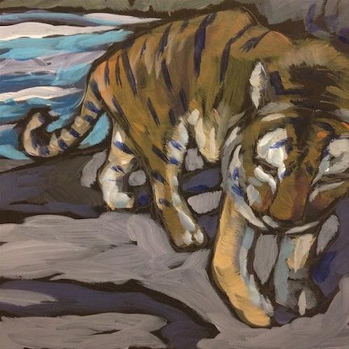 """Winter Tiger"" original fine art by Kat Corrigan"