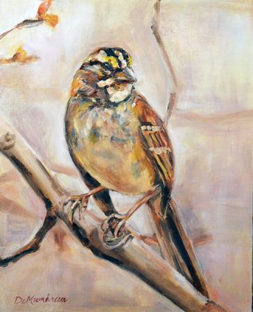 """""""Spring Wings"""" original fine art by Carol DeMumbrum"""