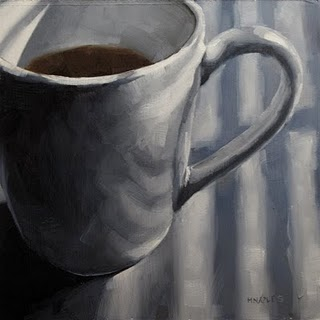 """""""Morning Cup"""" original fine art by Michael Naples"""