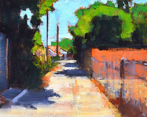 """Alley in North Park"" original fine art by Kevin Inman"