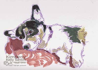 """""""Poofus (Best Dog Name EVER!)"""" original fine art by Kimberly Santini"""