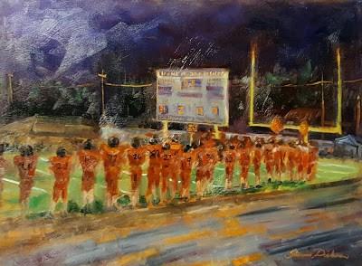 """Friday Night Lights in Fairfield"" original fine art by Tammie Dickerson"