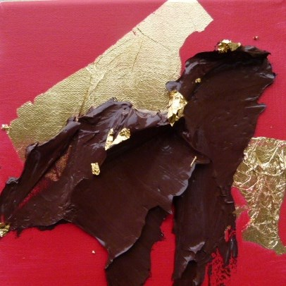 """Chocolate on Gold"" original fine art by Sabine Hüning"