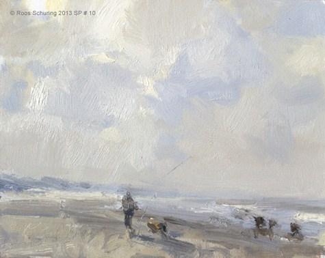 """Spring begins - Seascape spring 1 (available) zeegezicht"" original fine art by Roos Schuring"
