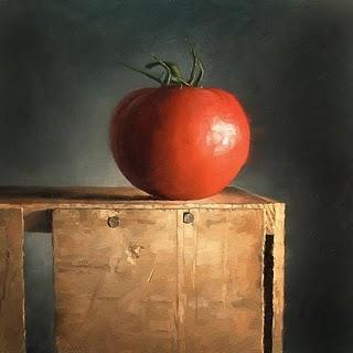 """Tomato Pedestal"" original fine art by Michael Naples"
