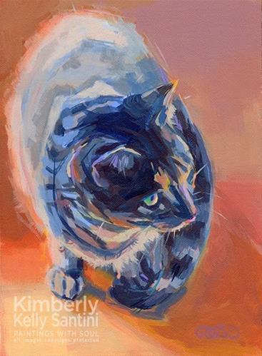 """The 4-Legged Mona Lisa"" original fine art by Kimberly Santini"